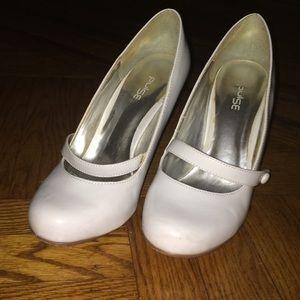 White Mary Jane Style Heels